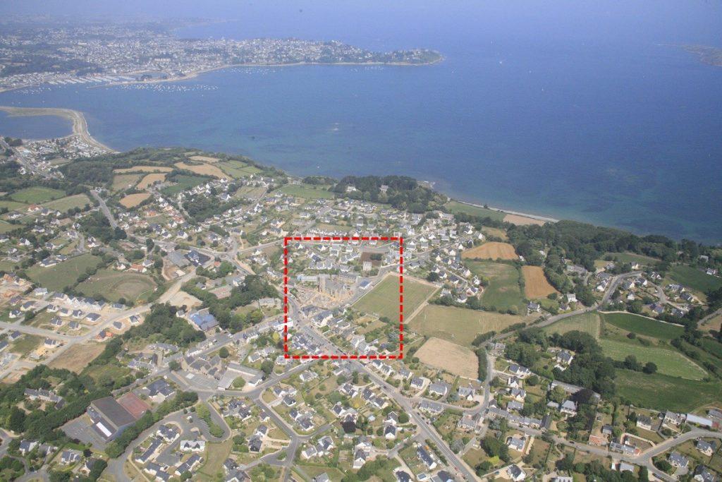 Vue aérienne de Louannec et Perros-Guirec