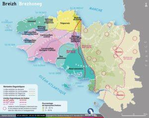Carte des variantes linguistiques