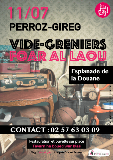 Affiche du Vide Grenier de Perros Guirec 2021