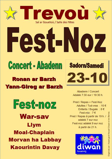 Affiche du Fest-Noz de l'Ankou Trévou Tréguignec 2021